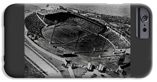 Baseball Glove iPhone Cases - Roosevelt Stadium iPhone Case by Michael Braham