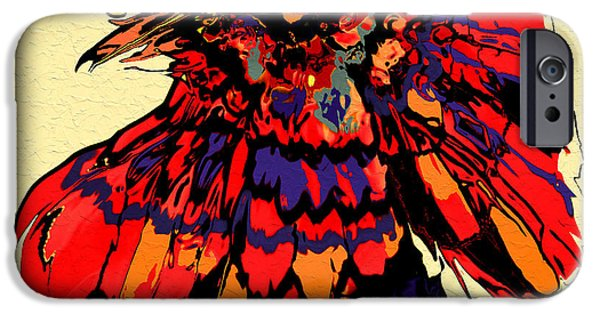 Crows iPhone Cases - Rooster iPhone Case by Natalie Holland