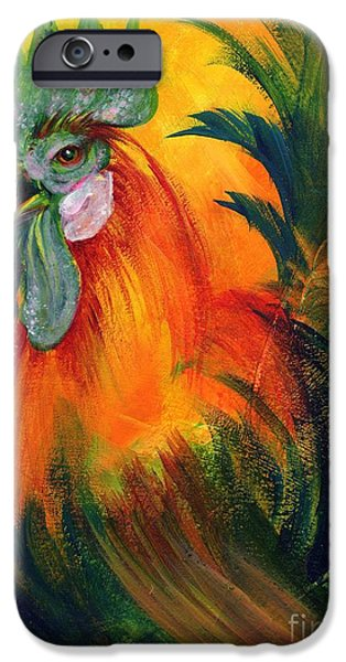 Rooster of Another Color iPhone Case by Summer Celeste