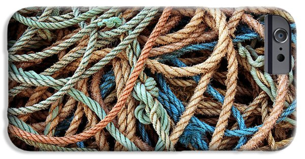 Bonding iPhone Cases - Rope Background iPhone Case by Carlos Caetano