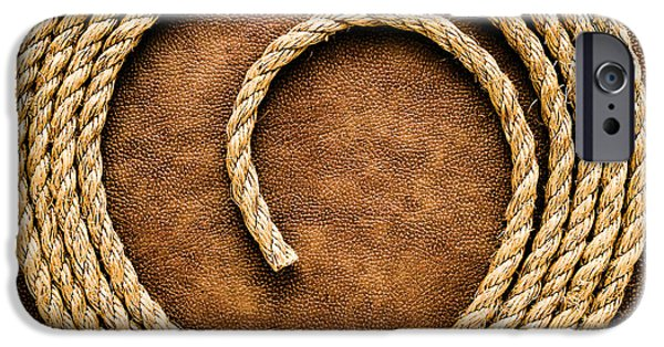Authentic iPhone Cases - Rope on Leather iPhone Case by Olivier Le Queinec