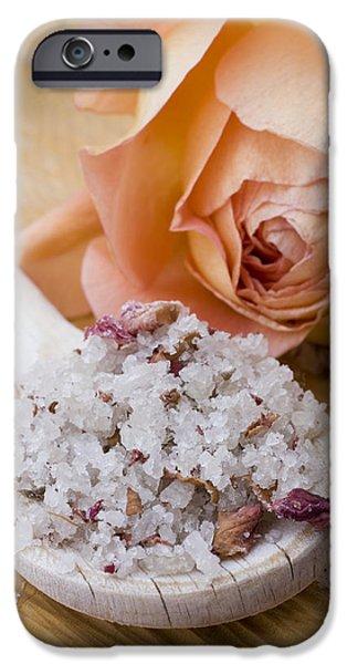 Rose-flavored sea salt iPhone Case by Frank Tschakert