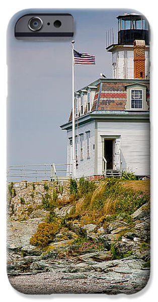 Rose Island Light iPhone Case by Susan Cole Kelly