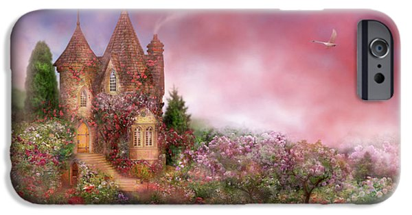 House Art iPhone Cases - Rose Manor iPhone Case by Carol Cavalaris