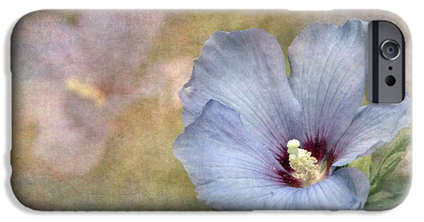 Texture iPhone Cases - Rose of Sharon - Hibiscus iPhone Case by Angie Vogel
