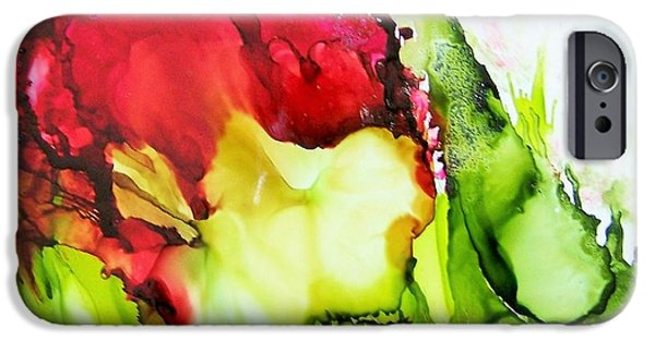Abstracted Ceramics iPhone Cases - Rose iPhone Case by Sherri Patterson