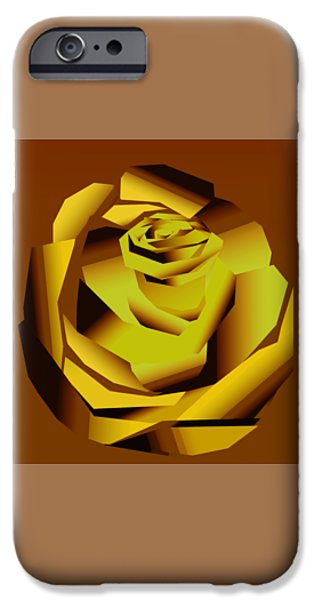 Sheets iPhone Cases - Rose iPhone Case by Thecla Correya