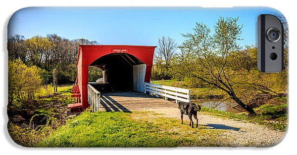 Recently Sold -  - Covered Bridge iPhone Cases - Roseman Covered Bridge with Old Duke #8491 iPhone Case by Jeffrey Henry