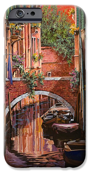 Venice iPhone Cases - Rosso Veneziano iPhone Case by Guido Borelli