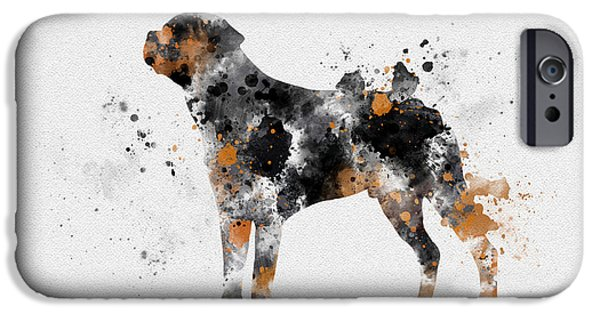 Puppies iPhone Cases - Rottweiler iPhone Case by Rebecca Jenkins