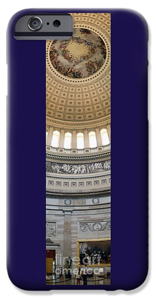 D.c. iPhone Cases - Rotunda Floor to Dome iPhone Case by JS Stewart