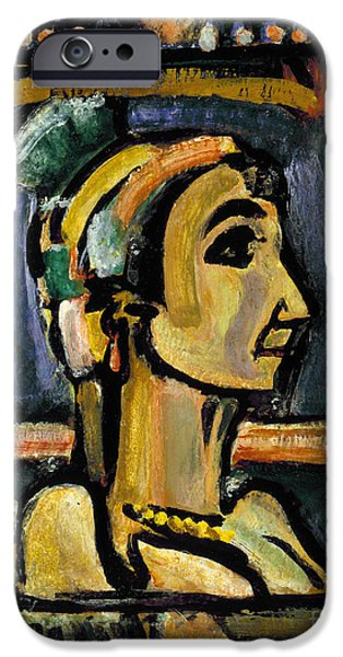 1940s Portraits iPhone Cases - Rouault: Circus Girl iPhone Case by Granger
