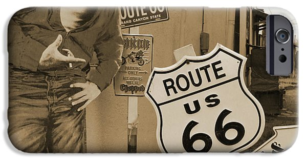 James Dean iPhone Cases - Route 66 iPhone Case by Mike McGlothlen