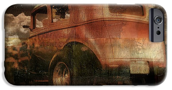 Rusted Cars iPhone Cases - Route 66 iPhone Case by Mindy Sommers