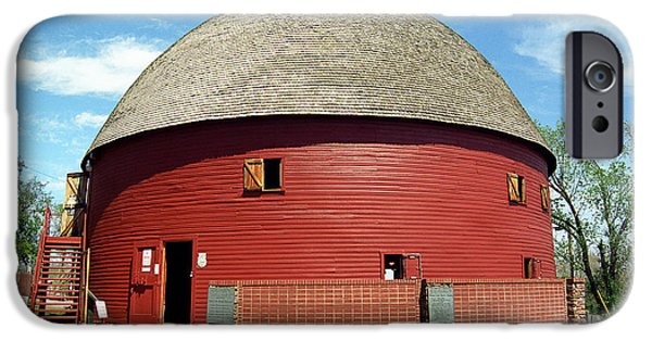 Barn Poster Photographs iPhone Cases - Route 66 - Round Barn iPhone Case by Frank Romeo