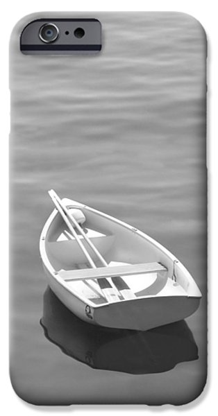 Row Boat Digital iPhone Cases - Row Boat iPhone Case by Mike McGlothlen