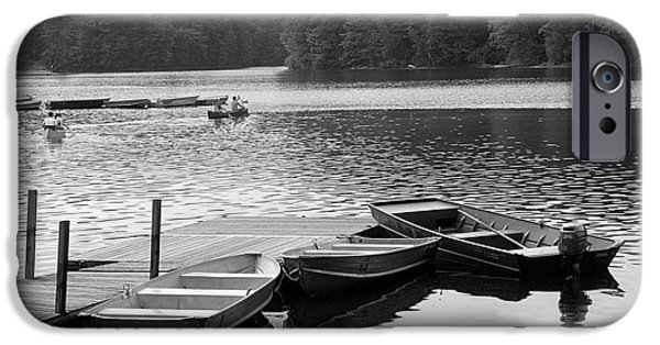 Canoe iPhone Cases - Row Boats iPhone Case by Kim Bonsignore