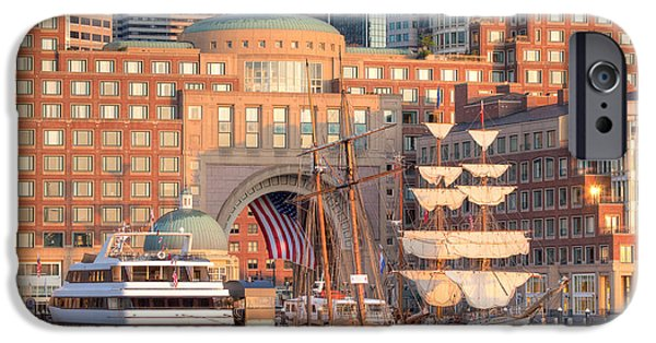 Windjammer iPhone Cases - Rowes Wharf iPhone Case by Susan Cole Kelly