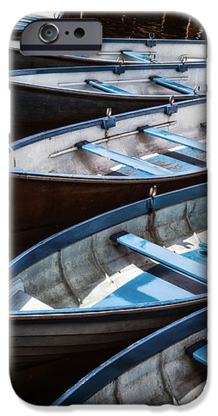 Boat iPhone Cases - Rowing Boats iPhone Case by Joana Kruse