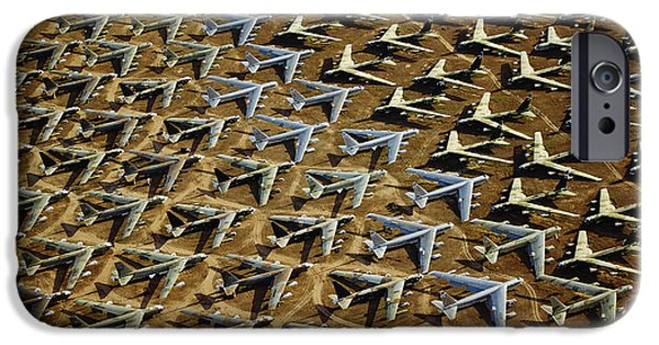 Armed Services iPhone Cases - Rows Of B-52s Tucson Az iPhone Case by Panoramic Images
