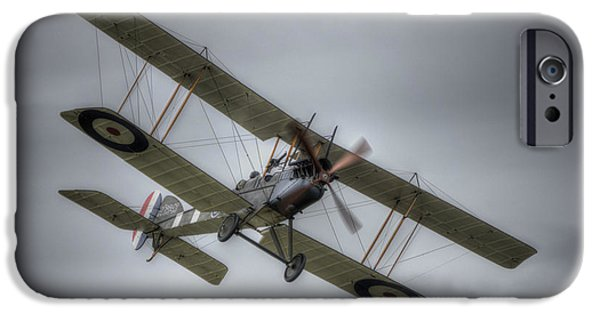 Ww1 iPhone Cases - Royal Aircraft Factory BE2e A2943  iPhone Case by Nigel Bangert