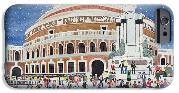 Royal Paintings iPhone Cases - Royal Albert Hall iPhone Case by Judy Joel