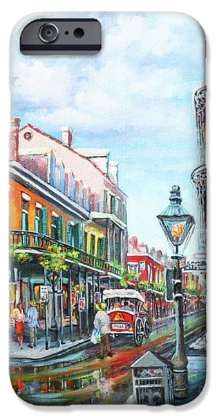 Royal Paintings iPhone Cases - Royal Balconies iPhone Case by Dianne Parks