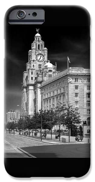 Beatles iPhone Cases - Royal Liver Buildings_beatle country iPhone Case by Rob Lester Wirral