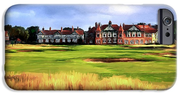 Scott Melby iPhone Cases - Royal Lytham St. Annes Golf Club iPhone Case by Scott Melby
