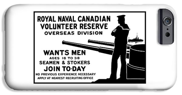 First World War iPhone Cases - Royal Naval Canadian Volunteer Reserve iPhone Case by War Is Hell Store