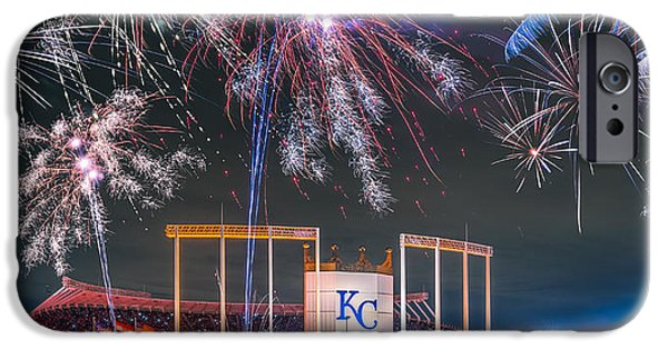 Baseball Stadiums iPhone Cases - Royal iPhone Case by Ryan Heffron