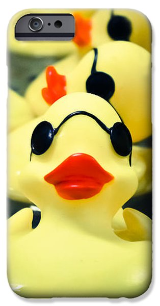 Young iPhone Cases - Rubber Duckie iPhone Case by Colleen Kammerer