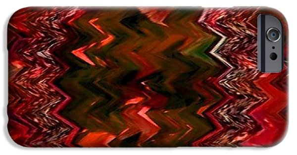 Red Abstract iPhone Cases - Rubynia Fantasia  iPhone Case by Gert J Rheeders
