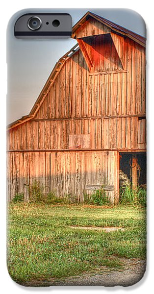 Ruddish Barn at Dawn iPhone Case by Douglas Barnett