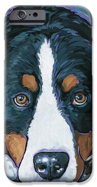 Dogs iPhone Cases - Rudy iPhone Case by Nadi Spencer
