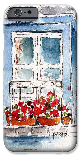 Rue Bernardine Window iPhone Case by Pat Katz