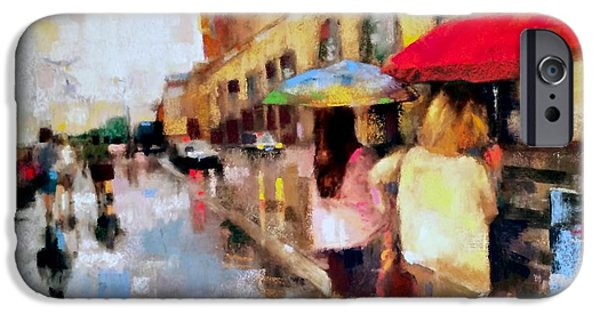 Raining Pastels iPhone Cases - Rue de Musee DOrsay iPhone Case by Christine Vitarello