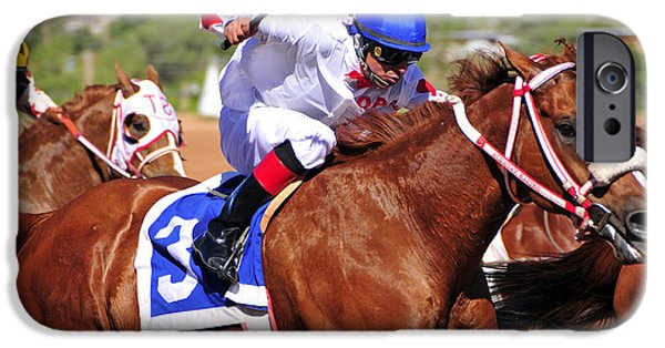 Horse Racing iPhone Cases - Ruidoso iPhone Case by Skip Hunt