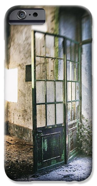 Haunted House iPhone Cases - Ruined Door iPhone Case by Carlos Caetano
