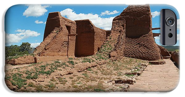 Village iPhone Cases - Ruins at Pecos iPhone Case by Jeff  Swan