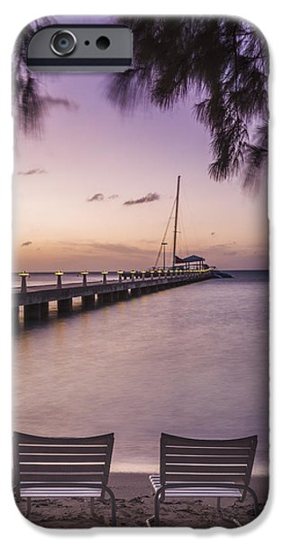 Sailboat Photos iPhone Cases - Rum Point Beach Chairs at Dusk iPhone Case by Adam Romanowicz