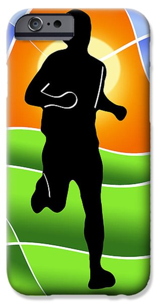Run iPhone Case by Stephen Younts