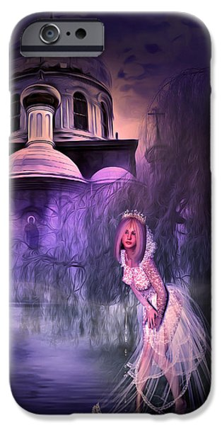 Young Mixed Media iPhone Cases - Runaway Bride iPhone Case by Svetlana Sewell