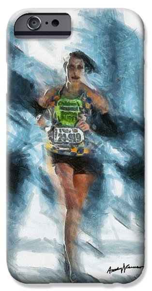 Runner iPhone Case by Anthony Caruso