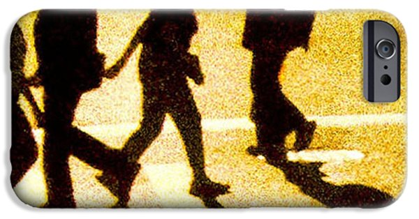 Young Paintings iPhone Cases - Running Life iPhone Case by Claudia Dura