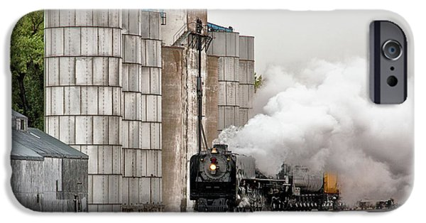 Nebraska iPhone Cases - Running Under Steam iPhone Case by Quality RailFan Images