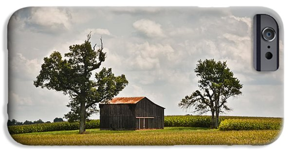 Crops iPhone Cases - Rural Kentucky Barn 2 iPhone Case by Greg Jackson