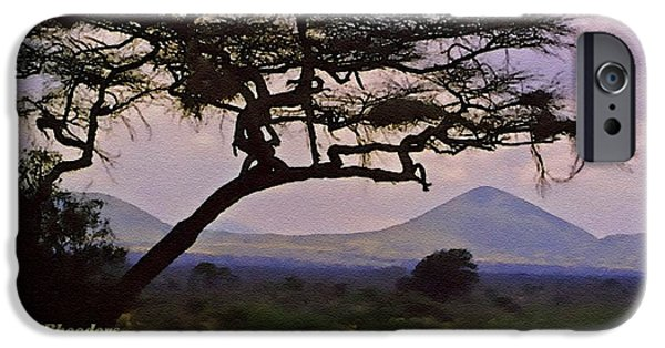 Business Pastels iPhone Cases - Rural Landscape Scene - South Africa H A iPhone Case by Gert J Rheeders