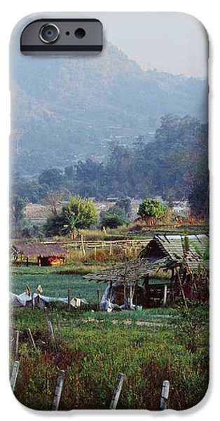 Rural Scene Near Chiang Mai, Thailand iPhone Case by Bilderbuch