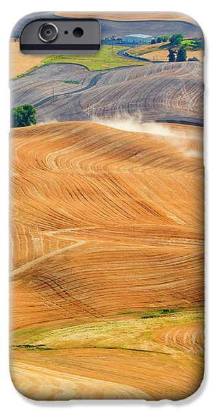 Rural iPhone Cases - Rural Traffic iPhone Case by Mike  Dawson